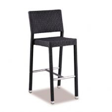Vanna Stag Bar Stool - Black Rattan